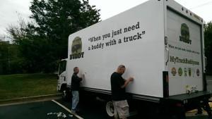 Peeling truck label