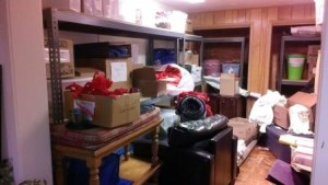 Does your place look like this? It's a storage room that Janet Schiesl recently reorganized.